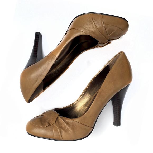 dc36bfe91dd45 ALDO Shoes | Heels Camel New | Poshmark